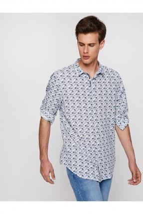 قميص رجالي منقوش دوائر سبور