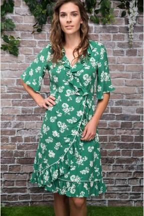 فستان سبور مزهر - اخضر