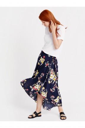 تنورة طويلة مزهرة