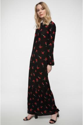 فستان سبور منقش بورد - اسود