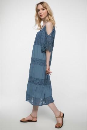 فستان سبور دانتيل - ازرق داكن