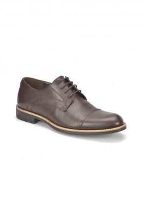 حذاء رجالي مزخرف مع ربطة _ بني