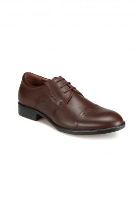 حذاء رجالي رسمي مع ربطة  _ بني