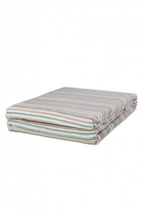 بطانية سرير مفرد مقلمة