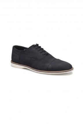 حذاء رجالي جلد _ ازرق داكن