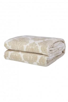 بطانية سرير مزدوج بنقش ذهبي