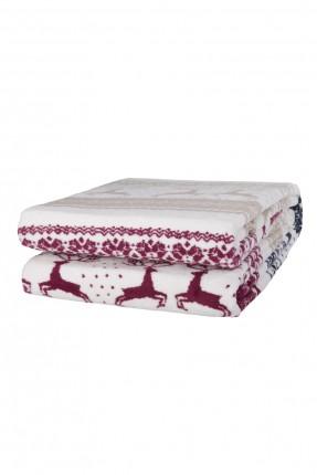 بطانية سرير مزدوج مع رسومات