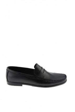 حذاء رجالي سبور جلد - اسود