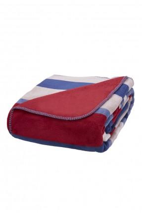 بطانية سرير فردي مقلم - وجهين
