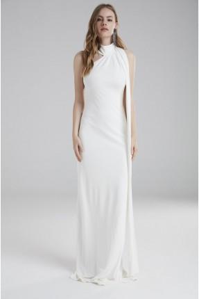 فستان رسمي شيك - ابيض