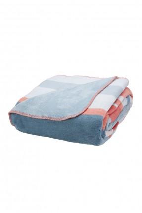 بطانية سرير مفرد مقلمة بوجهين