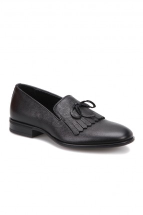 حذاء رجالي مع شراشيب _ اسود