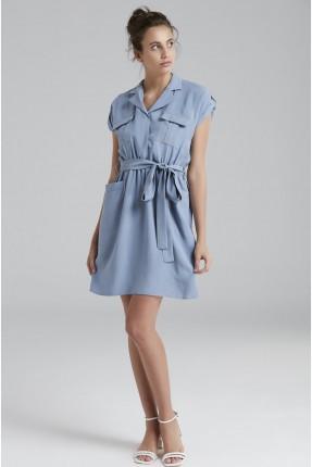 فستان سبور مع جيوب - ازرق