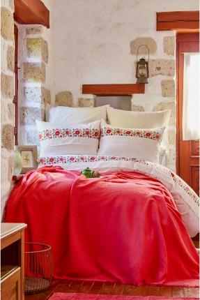 طقم غطاء سرير مزدوج ملون