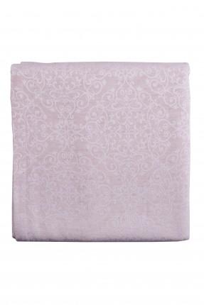 غطاء طاولة مزخرف - وردي / 150 * 250 سم /