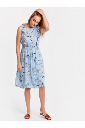 فستان سبور مع كشكش مزهر