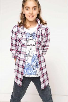 قميص اطفال بناتي كم طويل