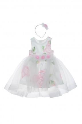 فستان اطفال بناتي منقش ورد