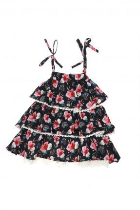 فستان اطفال بناتي مورد مع كشكش طبقات