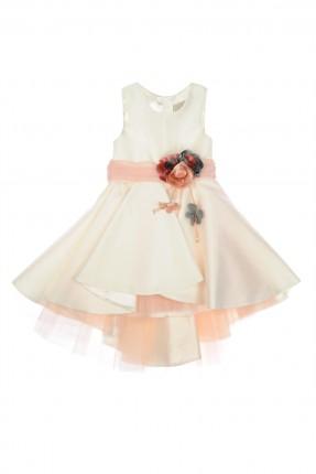 فستان اطفال بناتي مزين بروش ورد