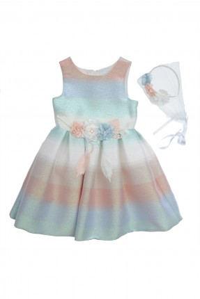 فستان اطفال بناتي ملون
