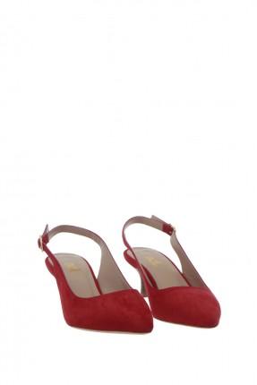حذاء نسائي مفتوح من الخلف - احمر