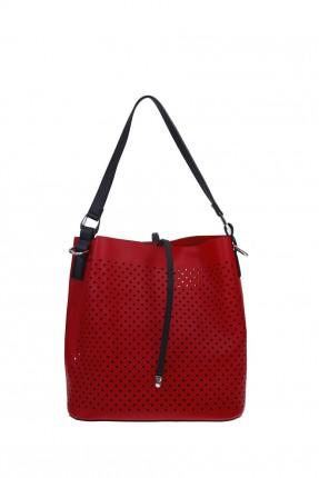 حقيبة يد نسائية مفرغة - احمر