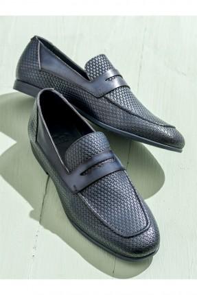 حذاء رجالي شيك - ازرق داكن