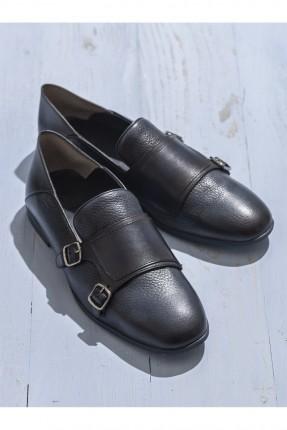 حذاء رجالي مع احزمة - ازرق داكن