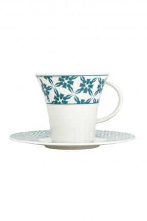 طقم فنحان شاي مزخرف - 6 اشخاص