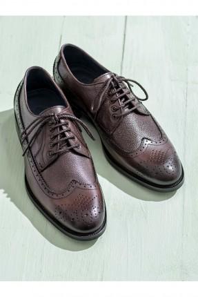 حذاء رجالي جلد مع رباطات