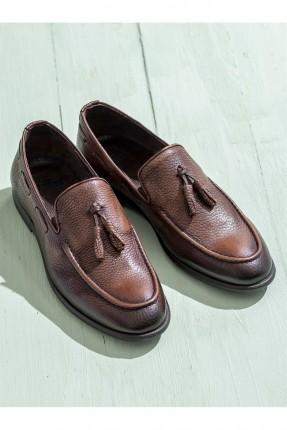 خذاء رجالي رسمي - بني