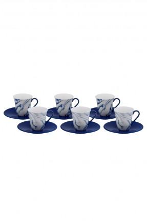 طقم فنجان قهوة مزخرف - 6 اشخاص