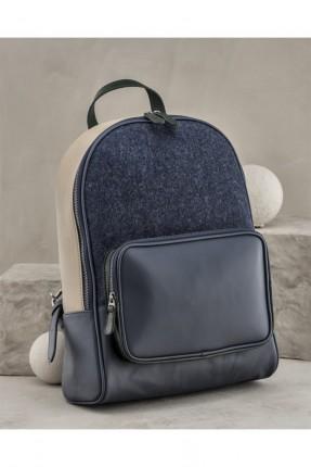 حقيبة ظهر رجالية مع سحابات