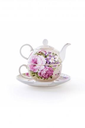 ابريق شاي مورد / 4 قطع /