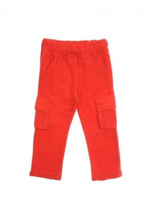 بنطال اطفال ولادي مع جيوب - احمر