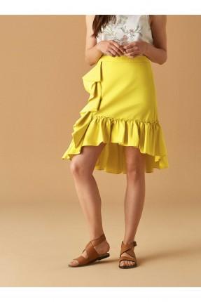 تنورة مكشكشة سبور - اصفر