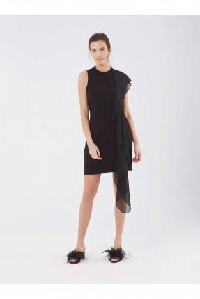 فستان رسمي قصير كلاسيكي - اسود