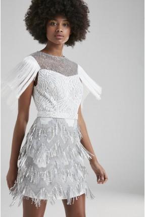 فستان رسمي مع شراشيب
