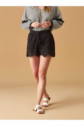 تنورة قصيرة مفرغة سبور - اسود