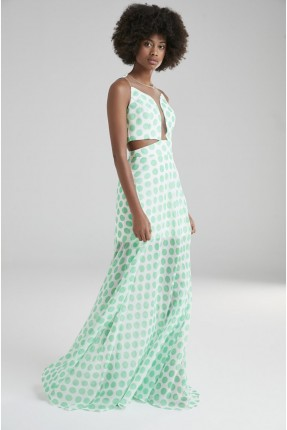 فستان رسمي منقط