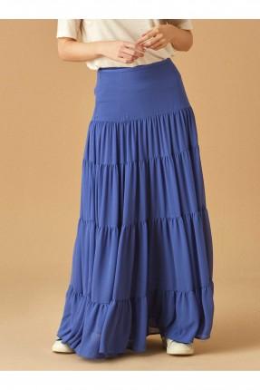 تنورة طويلة فلو سبور شيك - ازرق