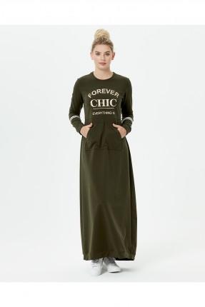 فستان نسائي سبور مطبوع - زيتي