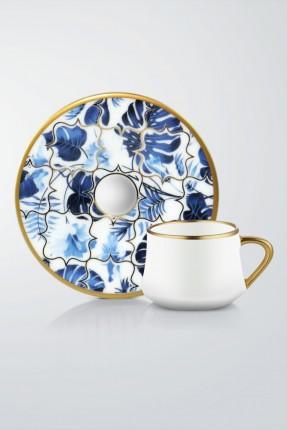 طقم فناجين قهوة 6 اشخاص - ازرق