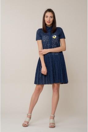 فستان سبور قصير بازرار - ازرق داكن