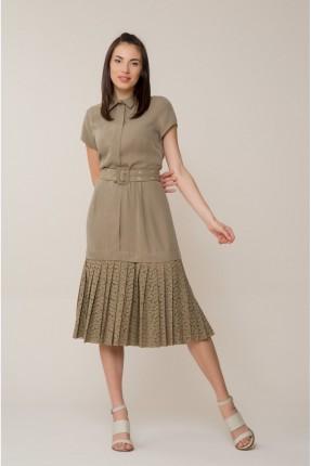 فستان سبور مع حزام - زيتي