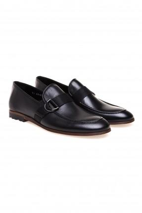 حذاء رجالي جلد كلاسيكي - اسود