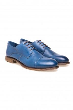 حذاء رجالي جلد رسمي - ارزق داكن