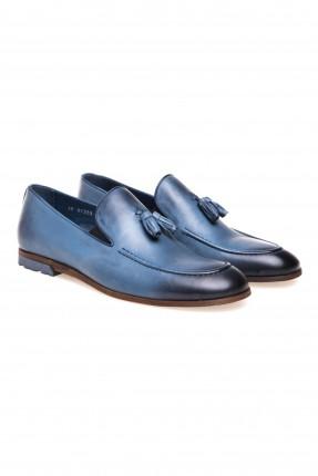 حذاء رجالي مزين قطع شرشبة سبور شيك - ازرق