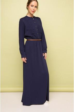 فستان سبور كم طويل - ازرق داكن